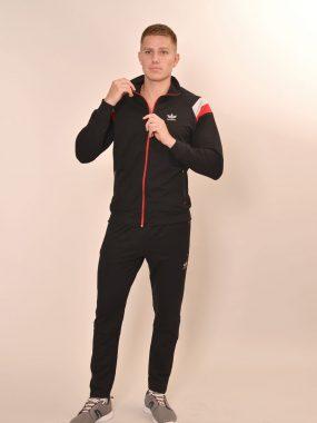 Мъжки спортен комплект, произведен в България – черно, червено и сиво