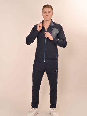 Мъжки екип прав с преден джоб – индиго, синьо и сиво