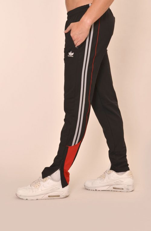 Мъжко долнище черно с червено - стеснено с  цип