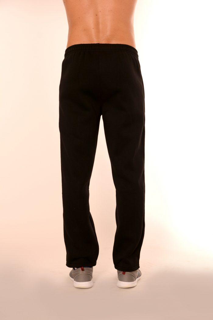 Ватирано мъжко долнище Respeero - черно прав модел