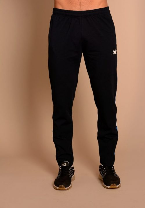 Мъжко долнище с цип, кант и биета - футболно долнище