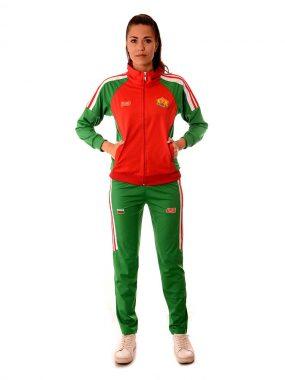 Дамски спортен екип на България с българския герб