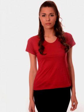Дамска тениска от мерсализиран памук