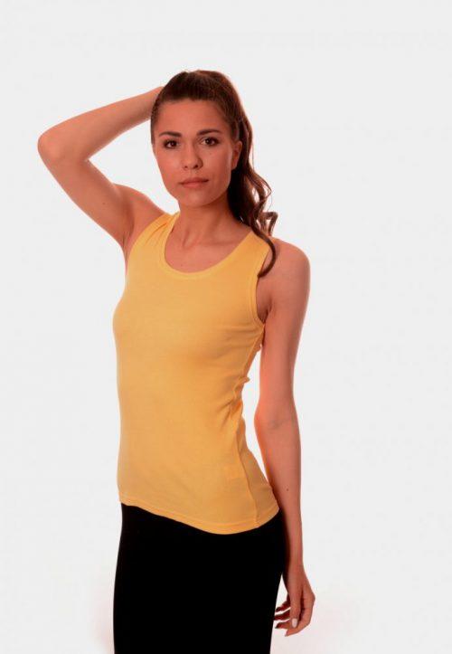 Летен дамски потник в жълто