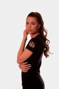 Дамска тениска с бродерия - шевица дървото на живота