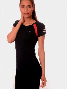 Дамски t-shirt Rediks в черно и червено.