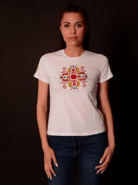 Дамска тениска с везба- дървото на живота