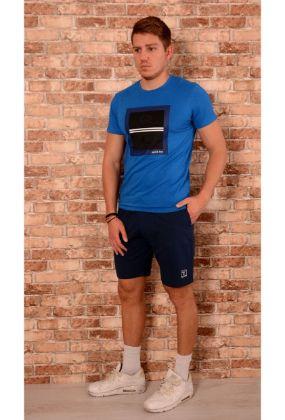 Мъжки комплект от тениска и къси панталони - онлайн