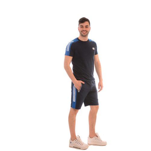Готин мъжки комплект в синьо - Редикс от памук и ликра