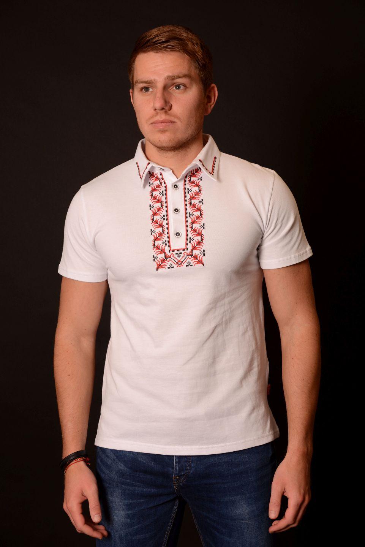 Мъжка тениска с везба - канатица
