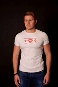 Мъжка тениска с бродирана канатица