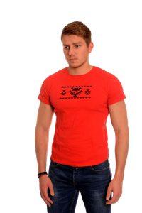 Червена мъжка тениска с българска везба