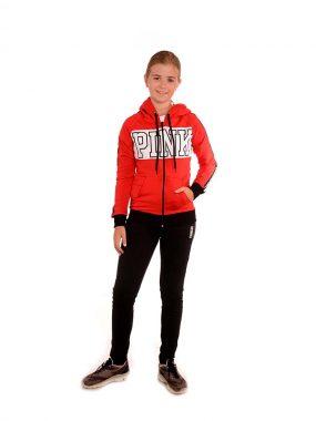 Спортен екип за момиче PINK от памук и ликра
