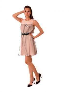 Модерна дамска рокля с тюл