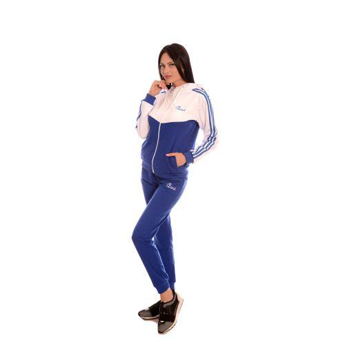 Дамски спортен екип Zani - синьо и бяла памук и ликра. Модел пролет- лято