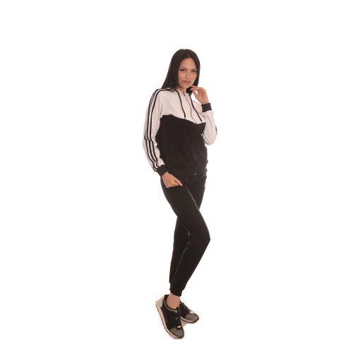 Дамски анцуг в черно и бяло Zani - памук и ликра.