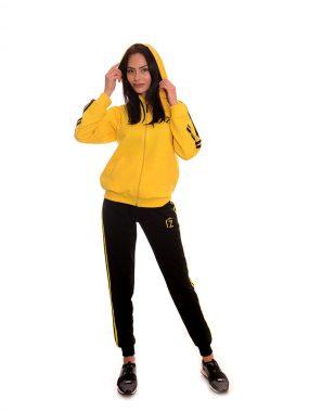 Български анцуг в жълто от памук с бродирано лого на Zani