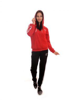 Дамски комплект в червено - Zani. Произведен в България от качествена памучна материя.