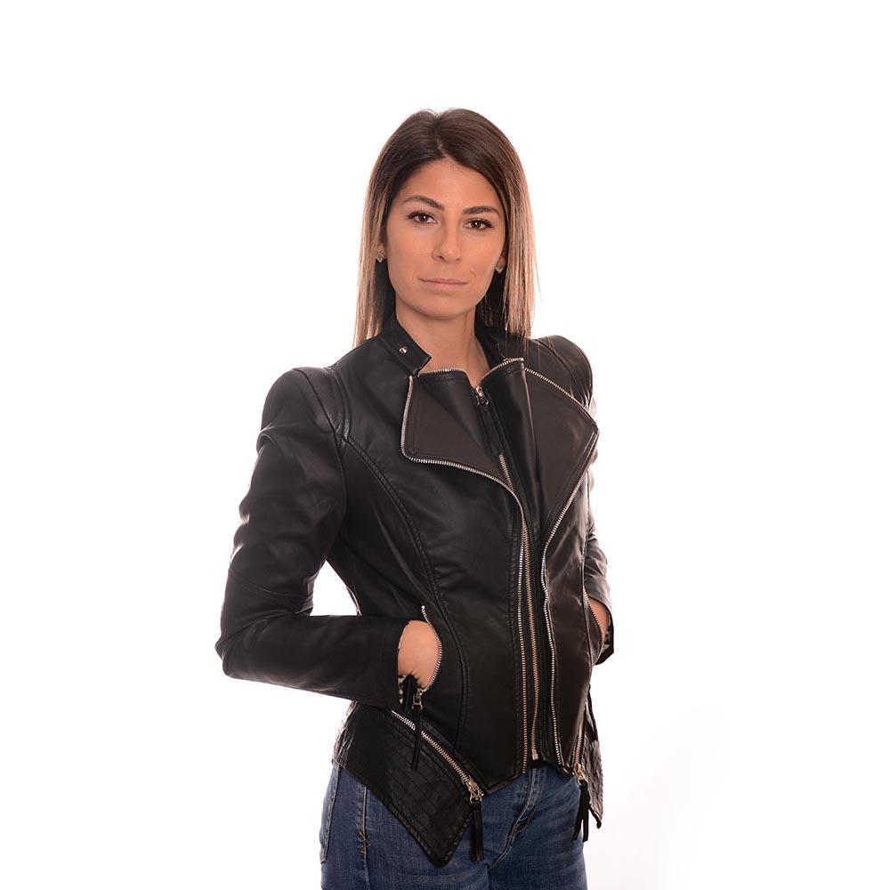 Късо дамско яке от еко кожа! Страхотен модел 2020г.