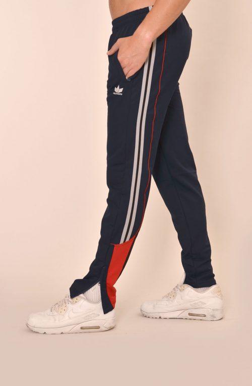 Мъжко долнище индиго с червено - стеснено с  цип