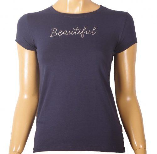 Дамска памучна тениска с къс ръкав произведена в България