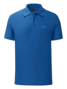 Мъжка тениска с яка в синьо. Произведена в България!