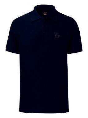 Тениска с яка за големи мъже - тъмно синя. Произведена в България!