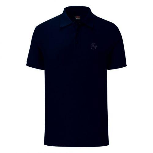 Мъжка тениска с яка в тъмно синьо. Произведена в България!