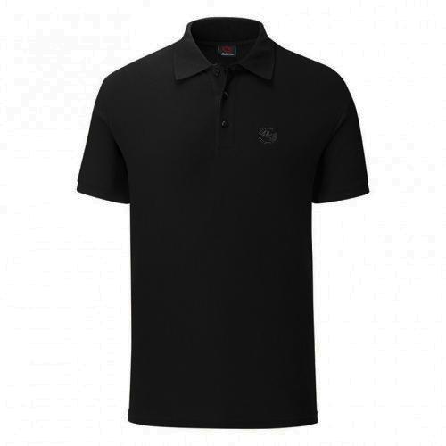 Черна тениска с яка. Произведена в България!