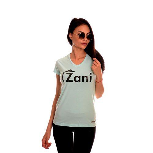 Дамска тениска в синьо от новата ни колекция 2020г. Zani носи късмет!