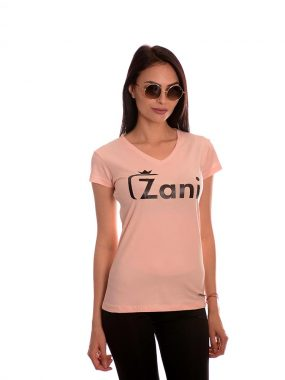 Дамска тениска в розово от новата ни колекция 2020г. Zani носи късмет!