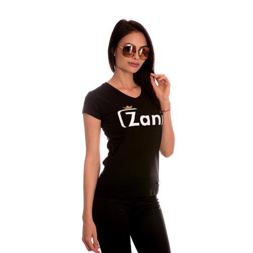 Дамска тениска в черно нова колекция 2020г. Zani носи късмет!