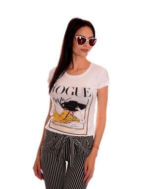 Моден комплект от панталон на раета и тениска