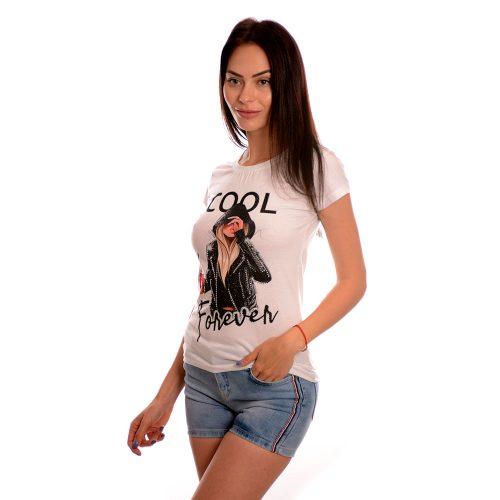 Дамска тениска COOL - памук и ликра