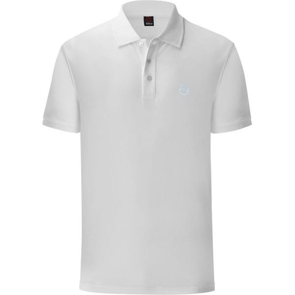 Бяла тениска с яка за големи мъже. Произведена в България!