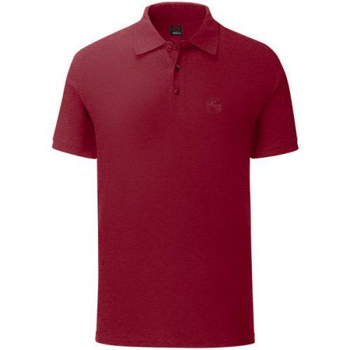 Мъжка тениска с яка цвят бордо. Произведена в България!
