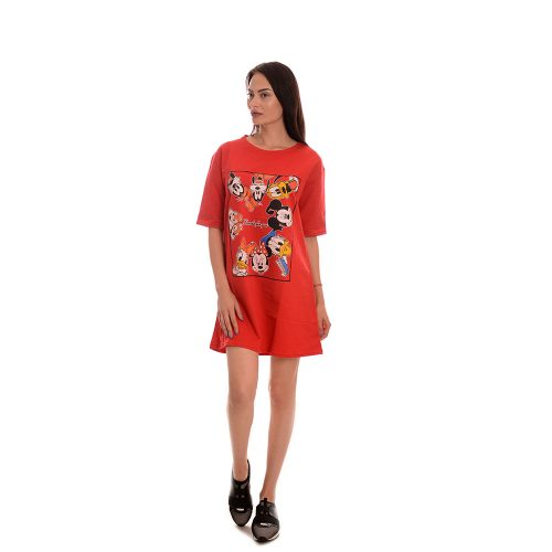 Дамска туника в червено - Disney mickey mouse. Свежо лятно настроение!
