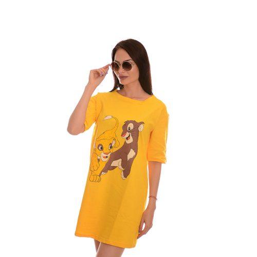 Дамска туника в жълто - Цар лъв. Свежо лятно настроение!