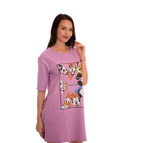 Дамска туника в лилаво - Disney mickey mouse. Свежо лятно настроение!