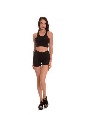 Спортен комплект от бюстие и къси панталони