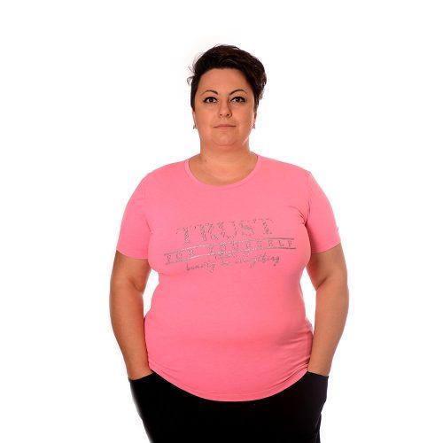 Розова тениска за МАКСИ дами