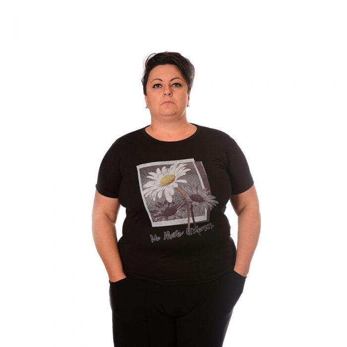 Тениска за макси дами от памук