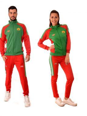 Български анцузи с българския герб и знаме Той и Тя