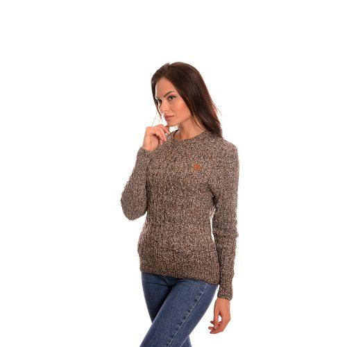 Дамска плетена блуза Naketano в сиво