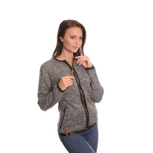 Дамска плетена жилетка с цип Naketano в кафяво