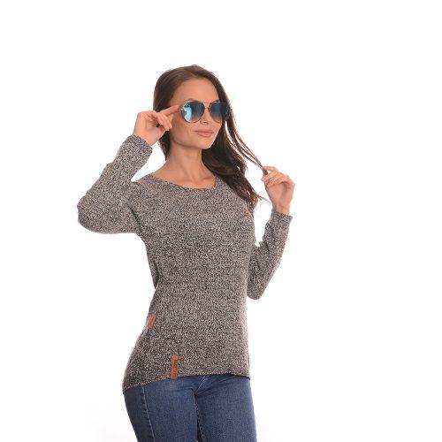 Дълга плетена блуза Naketano в сиво