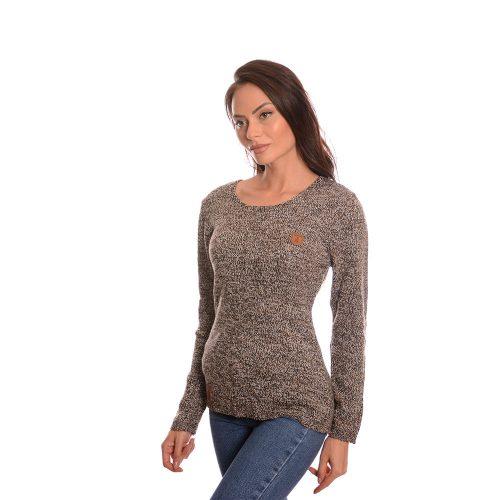 Дълга плетена блуза Naketano в кафяво
