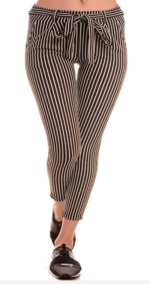 Дамски раиран панталон за макси дами.