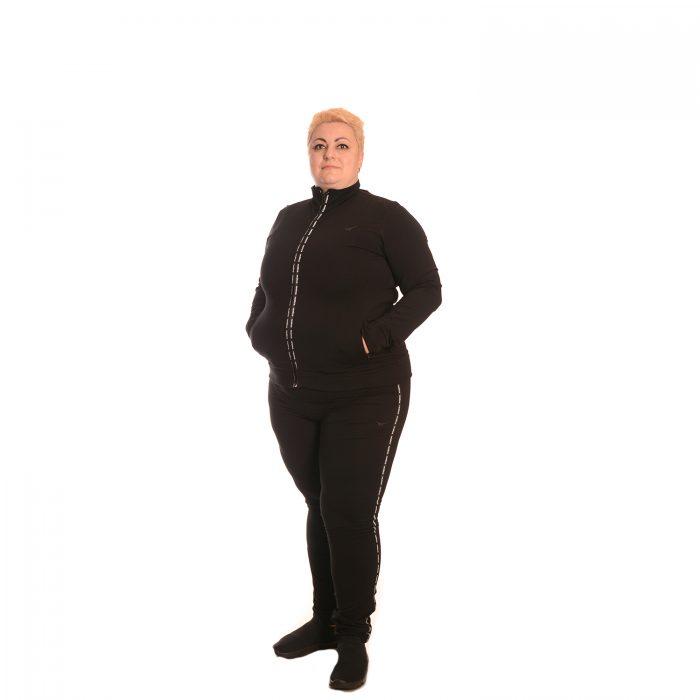 Черен анцуг голям размер за едри жени Редикс. Българско производство.