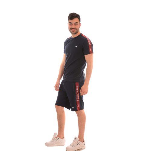 Мъжки комплект тениска и къси панталони. Страхотна памучна материя!